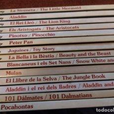 Libros: COLECCIÓN CUENTOS WALT DISNEY EN CATALÁN/INGLÉS. Lote 253572440