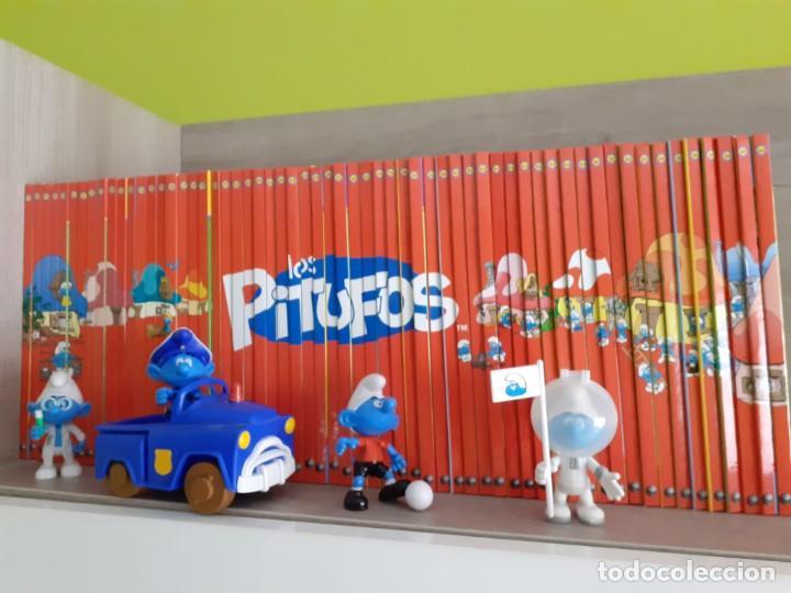 """Libros: Colección completa de libros y figuras de """"Los Pitufos, un mundo de profesiones"""" - Foto 3 - 253957750"""
