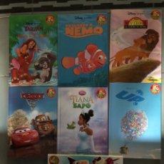 Libros: LOTE 7 LIBROS DISNEY TOY STORY REY LEON TIANA Y EL SAPO UP CARS TARZAN. Lote 254064855