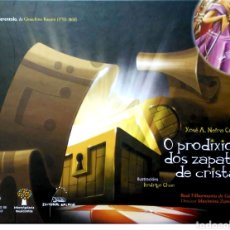 Libros: O PRODIXIO DOS ZAPATOS DE CRISTAL. XOSÉ A. NEIRA CRUZ. EDITORIAL GALAXIA. 2008. NUEVO.LIBRO+CD.. Lote 268569444