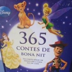Libros: 365 CONTES DE BONA NIT. UN CONTE MÀGIC DE DISNEY PER A CADA DIA DE L'ANY. Lote 268731924