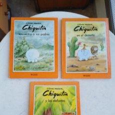 Livros: LOTE DE 3 LIBROS ( CUENTOS ) CHIQUITÍN ( EDWIN MASER ) EDICIONES GAVIOTA. Lote 270915118