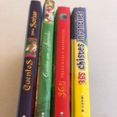 Libros: LOTE DE 4 LIBROS INFANTILES. Lote 275291388