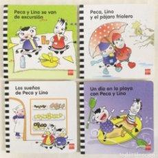 Libros: PECA Y LINO. ( 4 CUENTOS INFANTILES PARA 2 AÑOS) NUEVOS.. Lote 278281668