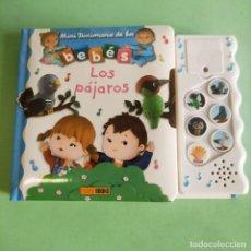 Libros: MINI DICCIONARIO DE LOS BEBES . LOS PAJAROS . LIBRO JUGUETE CON SONIDO .PANINI . NUEVO A ESTRENAR. Lote 279426888