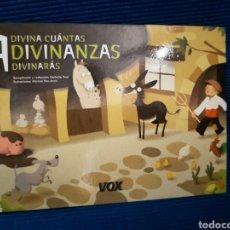 Libros: ADIVINA CUÁNTAS ADIVININANZAS ADIVINARÁS, NATHALIE PONS, EDITORIAL VOX. Lote 282177513