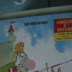 Libros: RICHARD SCARRY : CONEJIN Y BOTIJON CABALLEROS DE LA TABLA REDONDA (MOLINO, 1969). Lote 289866568