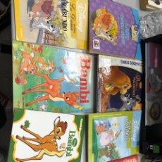 Livros: LOTE CUENTOS DISNEY: DAMA VAGABUNDO ; MICKEY MOUSE ; BAMBI ; ROBIN HOOD. Lote 290487993