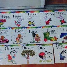 Libros: PEPO,LINA Y OTO,LOTE DE 24 LIBROS,SANTILLANA. Lote 292372618