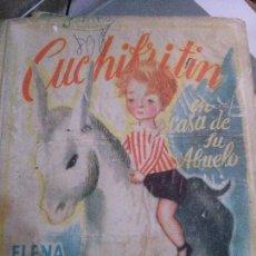 Libros: CUCHIFRITIN EN CASA DE SU ABUELO . LOMO TELA M.AGUILAR .ELENA FORTUN. Lote 88641712