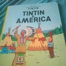 Libros: LIBRO COMIC TINTIN A AMERICA EN CATALAN. Lote 126292124