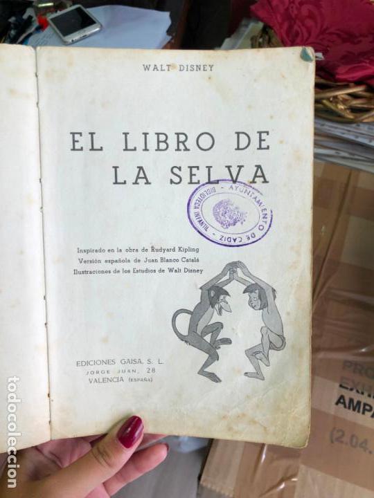 Libros: CUENTO EL LIBRO DE LA SELVA - WALT DISNEY AÑO 1967 - Foto 2 - 131369710