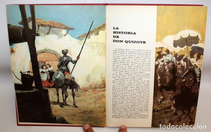 Libros: DON QUIJOTE DE LA MANCHA-EDITORIAL BRUGUERA-PALMA DE ORO-1968. - Foto 3 - 134133882
