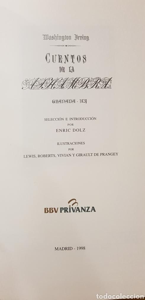 Libros: CUENTOS DE LA ALHAMBRA. - Foto 2 - 176899010
