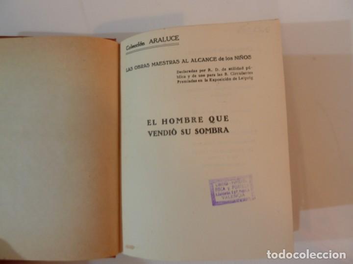 Libros: EL HOMBRE QUE VENDIÓ SU SOMBRA. ARALUCE. 8 ABRIL 1930.1ª EDICION. ILUST E. OCHOA - Foto 5 - 186212947