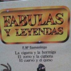 Libros: FABULAS Y LEYENDAS, FM\ SAMANIEGO, EDICIONES RAYUELA.. Lote 187624023