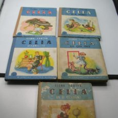 Libros: LOTE 5 LIBROS DE CELIA DE ELENA FORTUN. PRIMERAS EDICIONES. ILUSTRACIONES DE BONI. Lote 190799002