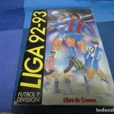 Livres: ALBUM LIGA ESTE 92-93 CON UNOS 155 CROMOS- 1 ES FICHAJES. Lote 191684053