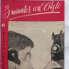 Libros: 3 MINUTOS CON CRISTO CESAR AGUILERA COLECCION ALTAMAR 3 AMIGOS Nº 9 16 PP. MADRID 1957. Lote 194062580