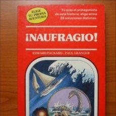 Libros: ELIGE TU PROPIA AVENTURA - NAUFRAGIO NUMERO 11. Lote 196366796
