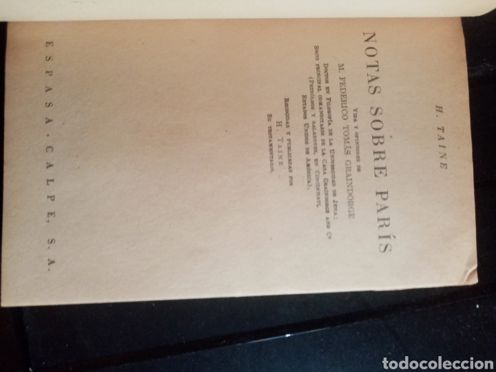 Libros: LIBRO NOTAS SOBRE PARIS COLECCIÓN AUSTRAL - Foto 3 - 210620060
