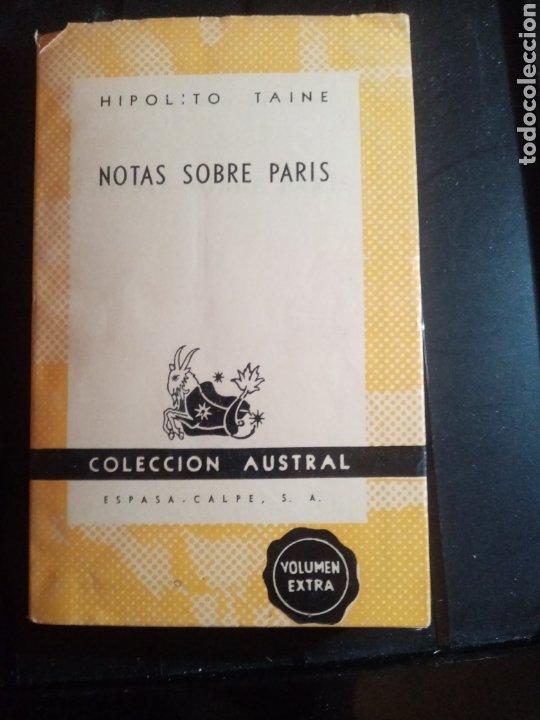 LIBRO NOTAS SOBRE PARIS COLECCIÓN AUSTRAL (Libros Nuevos - Literatura Infantil y Juvenil - Cuentos juveniles)