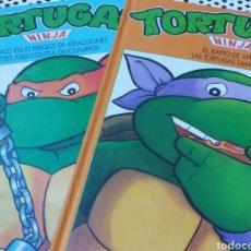 Livres: TORTUGAS NINJA ::EL RAPTO DE ABRIL::PÁNICO EN EL CENTRO DE ATRACCIONES 1991. Lote 214693972