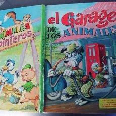 Libros: EL GARAJE DE LOS ANIMALES Y LOS ANIMALES CARPINTEROS,LIBRO DE TAPA DURA,TAPA DURA,EDITORIAL VASCO. Lote 215755050