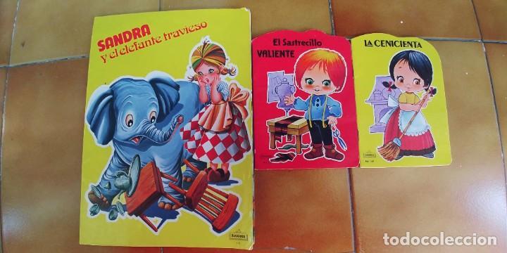SANDRA Y EL ELEFANTE TRAVIESO Y DOS CUENTOS MAS TROQUELADOS,BEASCOA,AÑO 1983-1988,PERFECTO ESTADO (Libros Nuevos - Literatura Infantil y Juvenil - Cuentos juveniles)
