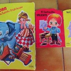 Libros: SANDRA Y EL ELEFANTE TRAVIESO Y DOS CUENTOS MAS TROQUELADOS,BEASCOA,AÑO 1983-1988,PERFECTO ESTADO. Lote 217733645