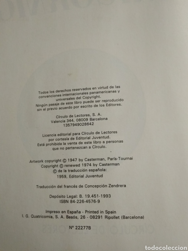 Libros: Libro de tintin - Foto 3 - 217780792