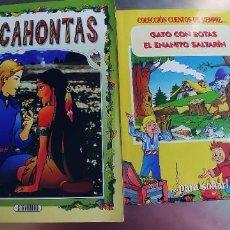 Libros: POCAHONTAS,GATO CON BOTAS Y EL ENANO SALTARIN,TAPA FINA. Lote 219314852