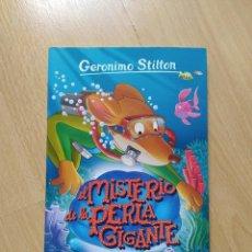 Libros: GERÓNIMO STILTON - EL MISTERIO DE LA PERLA GIGANTE- TAPA BLANDA. Lote 221642180