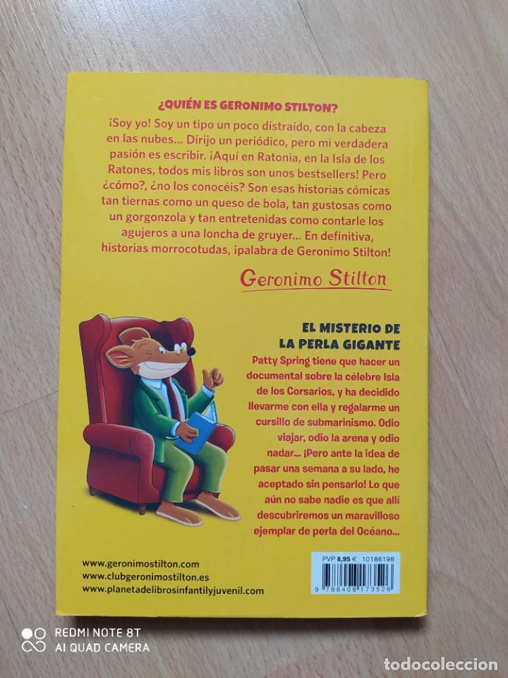 Libros: GERÓNIMO STILTON - EL MISTERIO DE LA PERLA GIGANTE- TAPA BLANDA - Foto 2 - 221642180