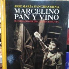 Libros: MARCELINO PAN Y VINO-JOSÉ MARIA SANCHEZ SILVA-ILUSTRACIONES CARMEN SEGOVIA-EDITA ANAYA 1°EDICION 200. Lote 225124460