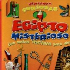 Libros: VENTANAS CURIOSAS. EGIPTO MISTERIOSO. LIBRO INFANTIL. JUVENIL.. Lote 226309260