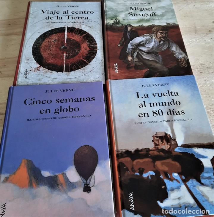 JULIO VERNE LOTE 4 LIBROS EDITORIAL ANAYA (Libros Nuevos - Literatura Infantil y Juvenil - Cuentos juveniles)