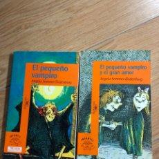 Livres: LOTE DOS LIBROS EL PEQUEÑO VAMPIRO ALFAGUARA GRAN AMOR. Lote 241711460
