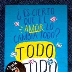 Libros: ES CIERTO QUE EL AMOR LO CAMBIA TODO? TODO TODO - NICOLA YOON - EDICIONES SM - NUEVO. Lote 243307695