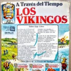 Libros: LOS VIKINGOS.A TRAVES DEL TIEMPO. Lote 249490790