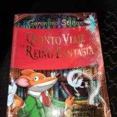 Libros: LIBRO, QUINTO VIAJE AL REINO DE LA FANTASÍA, GERONIMO STILTON, DESTINO. Lote 279569428