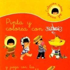 Libros: PINTA Y COLOREA CON FERRÀNDIZ Y JUEGA CON PEGATINAS REMOVILES - AÑO 2008 ( NUEVO ). Lote 295936413