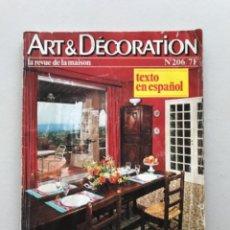 Libros: ART & DECORACION N. 206. Lote 128172087