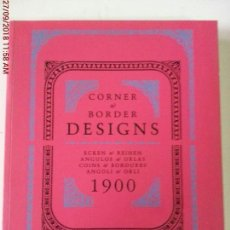 Libros: CORNER AND BORDER DESIGNS. Lote 135132786