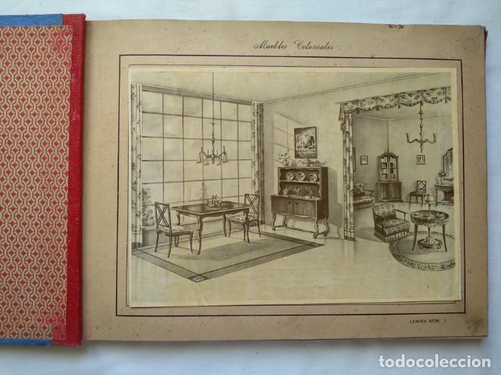 Libros: Muebles coloniales. 24 laminas. Años 40-50 - Foto 3 - 167824452