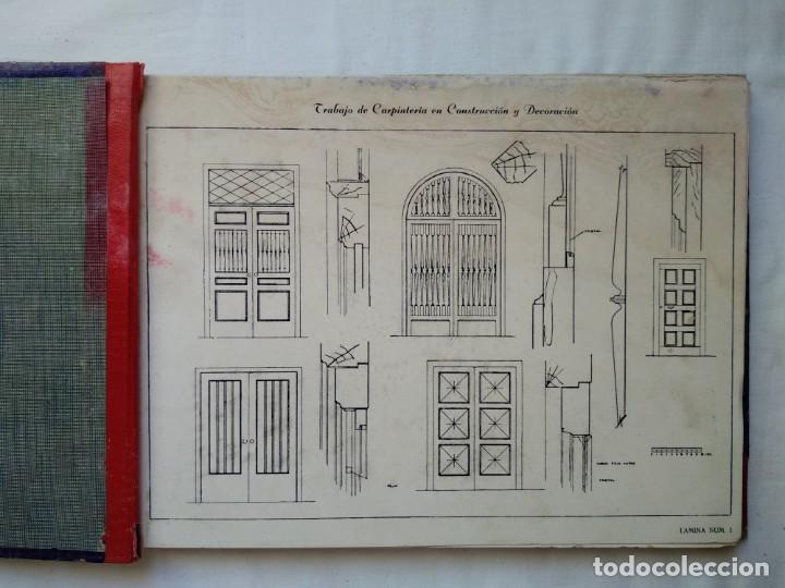 Libros: Trabajo de carpintería en construcción y decoración. 40 láminas años 40-50 - Foto 3 - 167824868