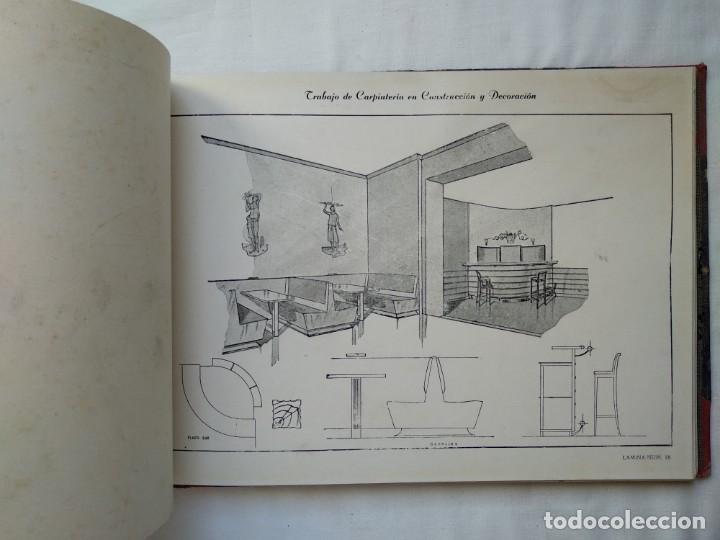 Libros: Trabajo de carpintería en construcción y decoración. 40 láminas años 40-50 - Foto 4 - 167824868