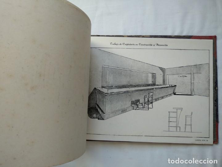 Libros: Trabajo de carpintería en construcción y decoración. 40 láminas años 40-50 - Foto 5 - 167824868
