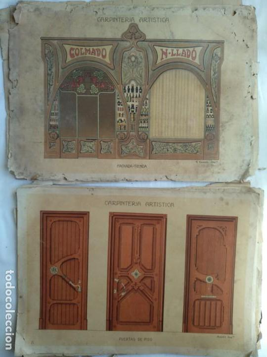Libros: Carpintería artística. Andrés Audet y Puig año 1900-1930 - Foto 5 - 167826472