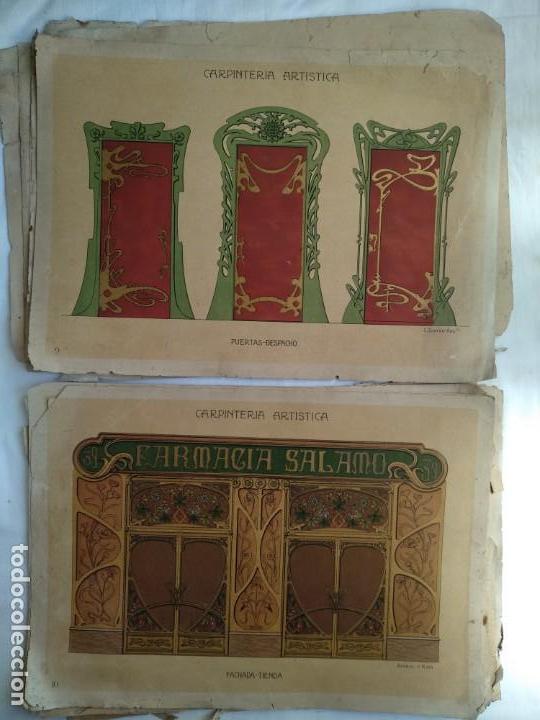 Libros: Carpintería artística. Andrés Audet y Puig año 1900-1930 - Foto 6 - 167826472
